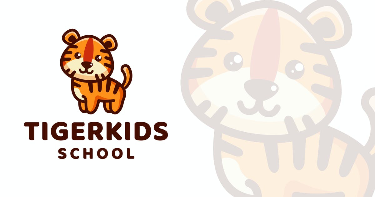 Download Tiger Kids School Logo Template by IanMikraz