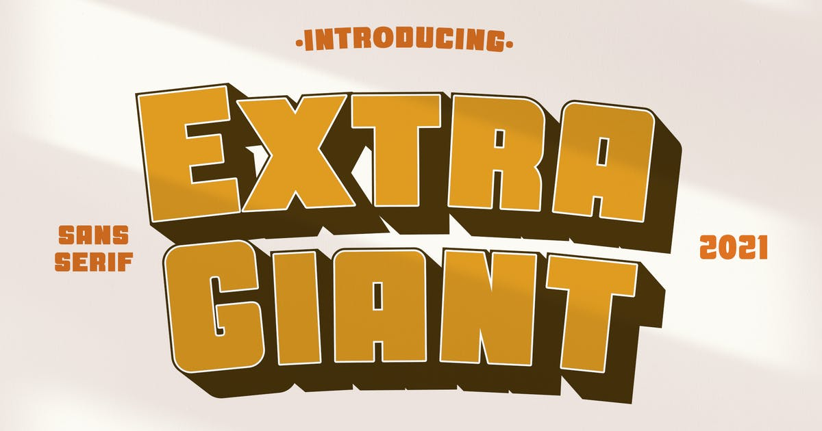 Download Extra Giant Advertisement Font by typecoconut