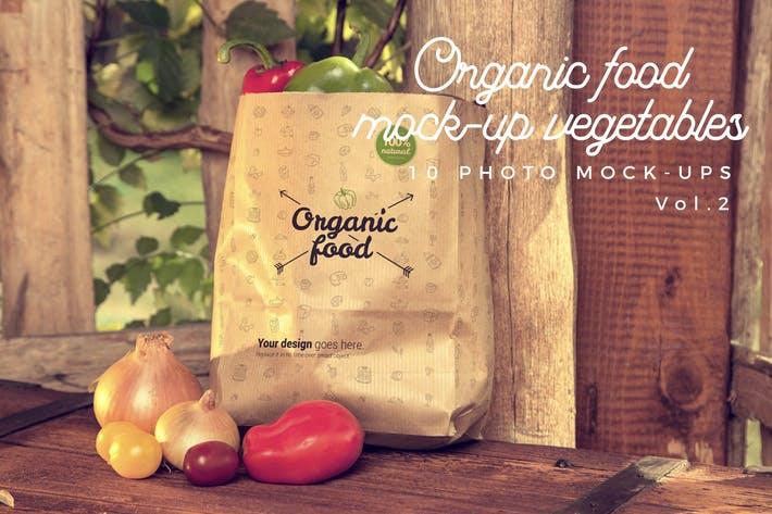 Thumbnail for Organic Food Photo Mockup / Vegetables Vol.2