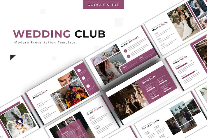 Thumbnail for Wedding Club - Google Slide Template