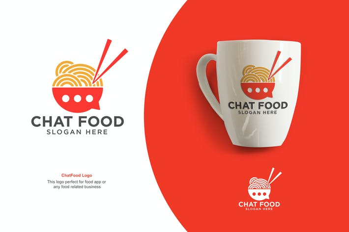 Cover Image For Chat Food Logo