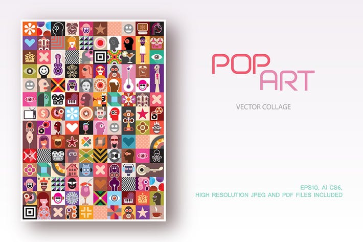 Thumbnail for Pop Art style vector collage