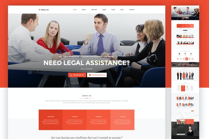 Thumbnail for Lawyer Web Template - PSD