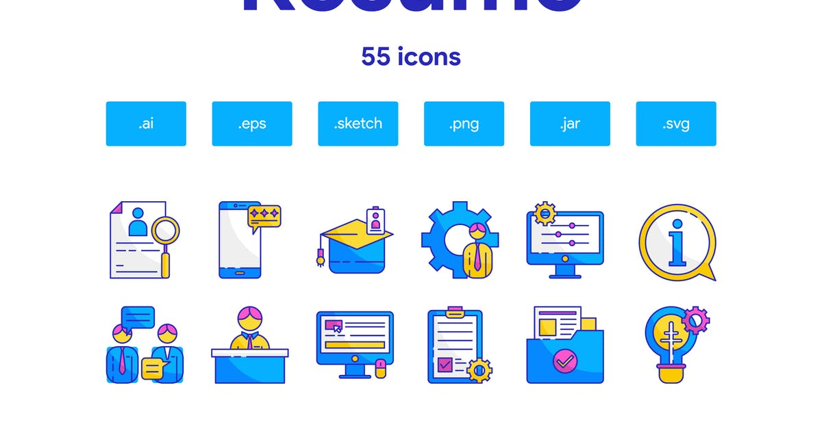Download Resume Icon Set by TanahAirStudio