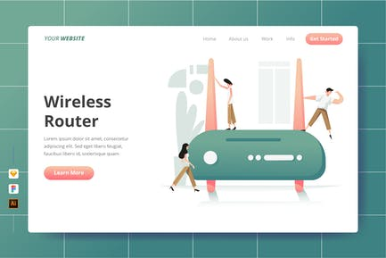 Wireless Router - Landing Page