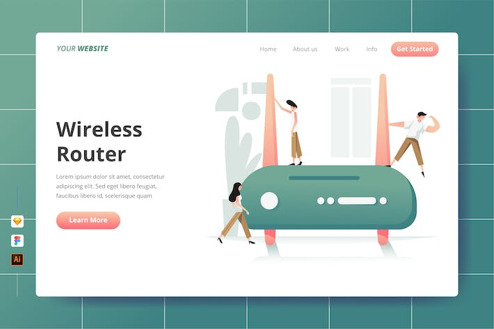 Thumbnail for Wireless Router - Landing Page