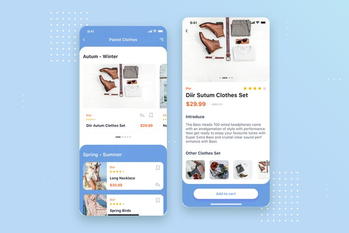Cover Image For E-commerce store App mobile UI Concept