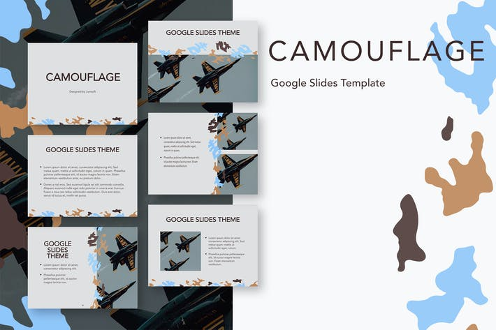 Thumbnail for Camouflage Google Slides Template