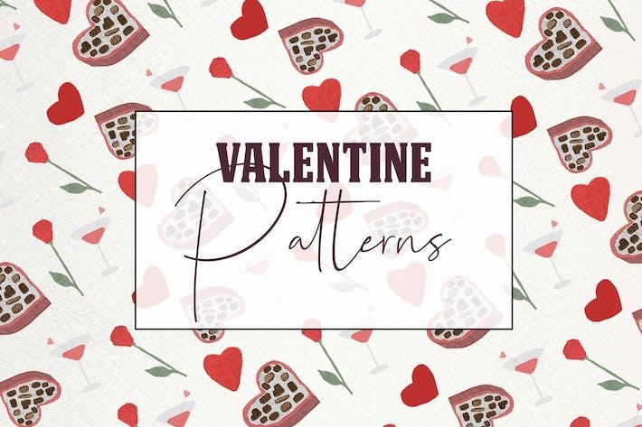 Thumbnail for Jolis motifs romantiques sans couture de Saint-Valentin