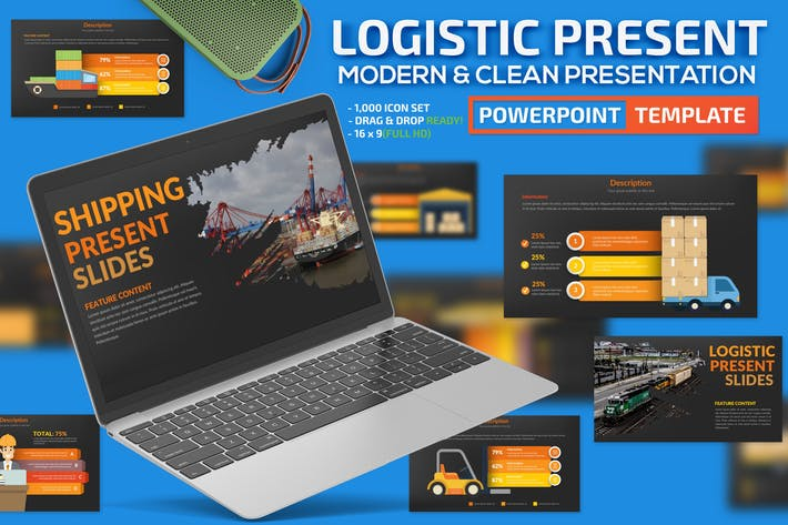 Thumbnail for Logistic Powerpoint Template