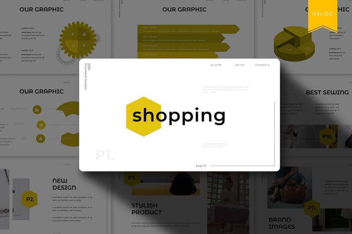 Thumbnail for Shopping | Google Slides Template