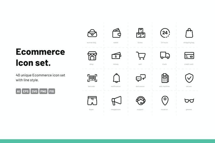 Thumbnail for E-commerce Icon Set