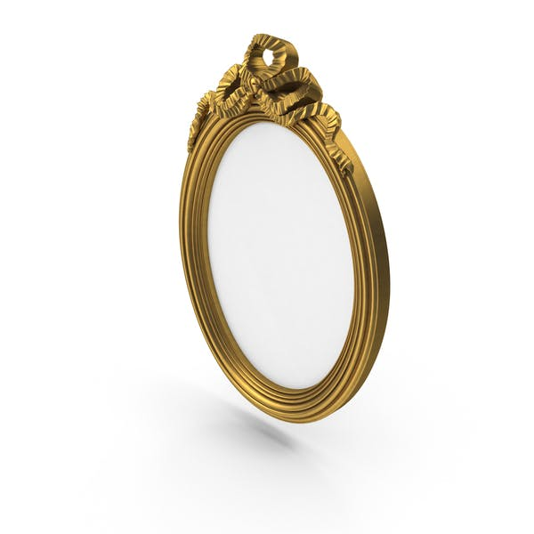 Oval Golden Baroque Picture Frame