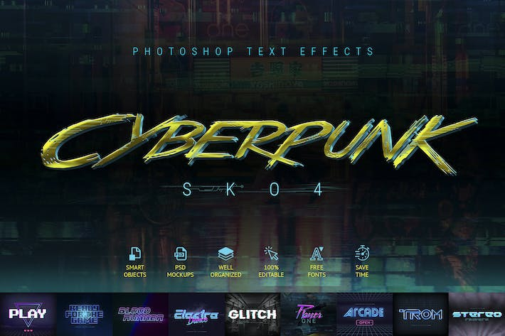 Thumbnail for Cyberpunk - 80s Retro Text Effects