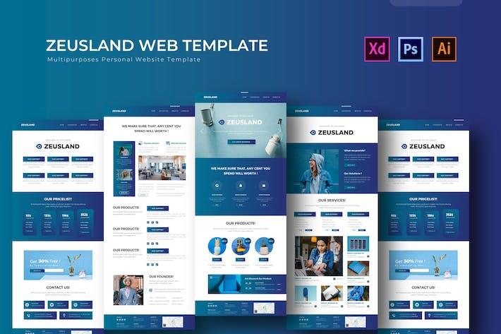 Thumbnail for Zeusland   PSD Web Template