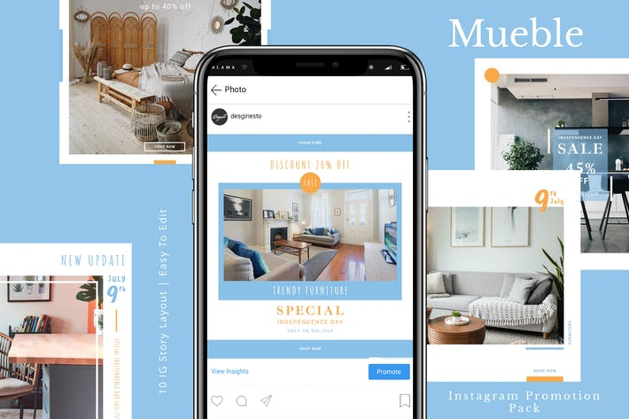 Cover Image For Mueble - Instagram Promotion Pack