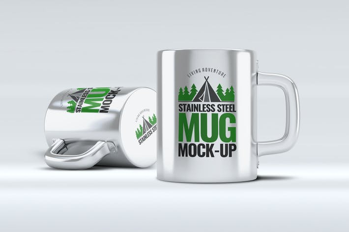 Thumbnail for Stainless Steel Mug Mock-Up