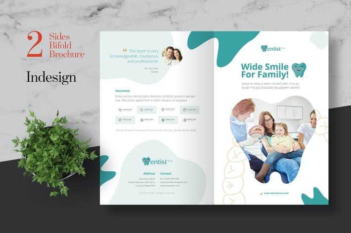 Thumbnail for Clean Dental Clinic Bifold Brochure
