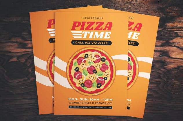 Pizza Time Flyer