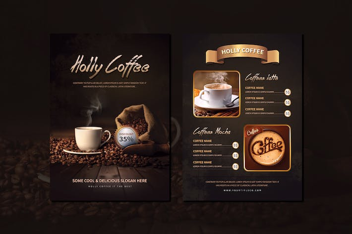 Thumbnail for Holly Coffee Menu Flyer