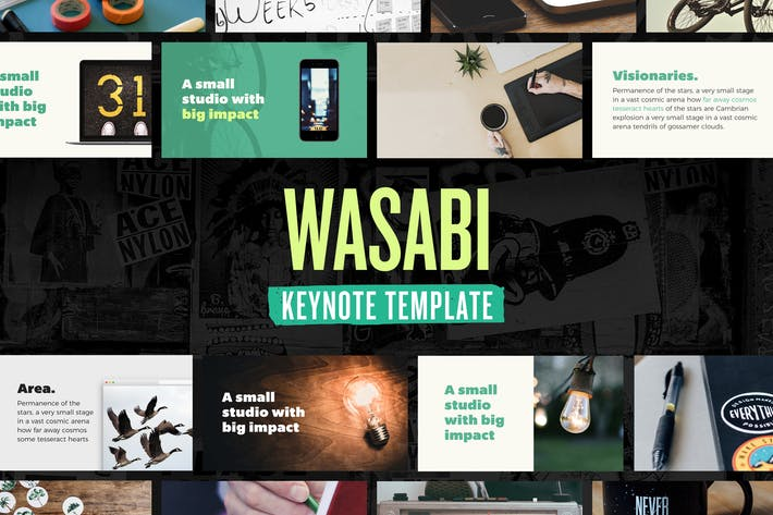 Thumbnail for Wasabi — Keynote Presentation Template