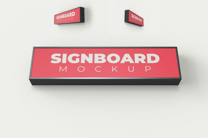 Thumbnail for Rectangle Building Signboard Mockup