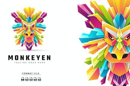 Colorful Monkey Logo Template