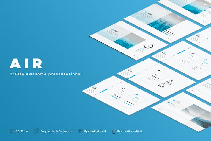 Thumbnail for Air Powerpoint Template