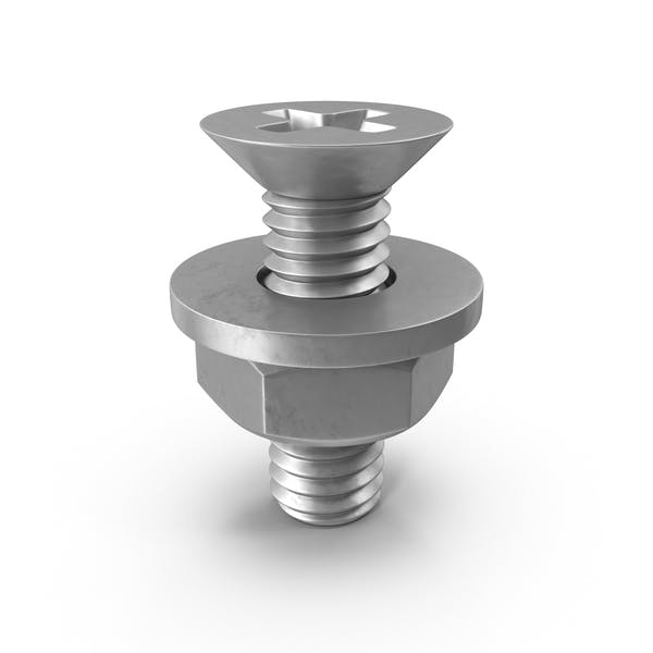 Bolt with Washer and Nut