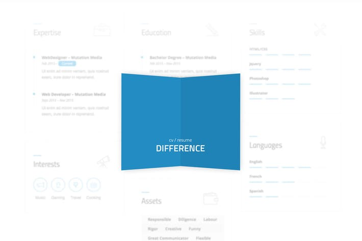 Thumbnail for Difference - CV/RESUME TEMPLATE