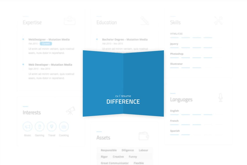 Difference Cvresume Template By Mutationthemes On Envato Elements