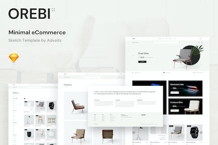 Orebi - Minimal eCommerce Sketch Template
