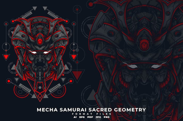 Thumbnail for MECHA SAMURAI SACRED GEOMETRY