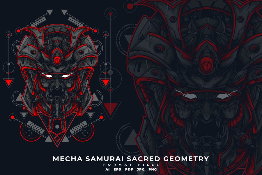 MECHA SAMURAI SACRED GEOMETRY