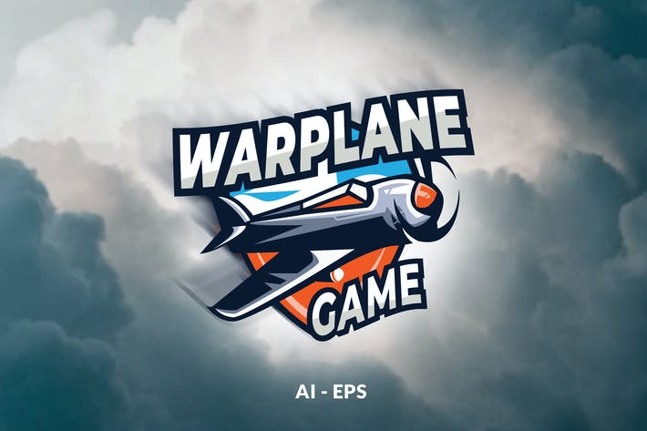 Thumbnail for War Plane Game - Logo Template