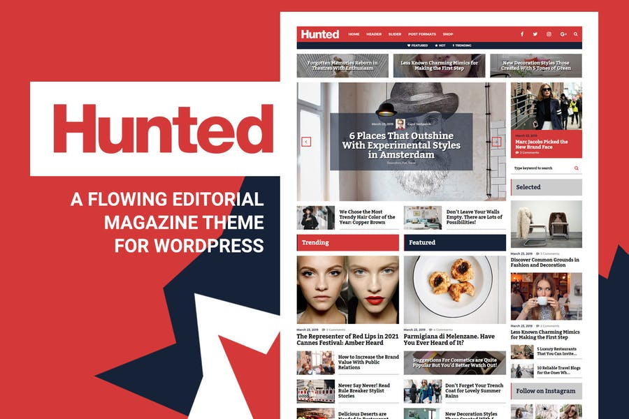 Hunted - Editorial Magazine Blog Theme