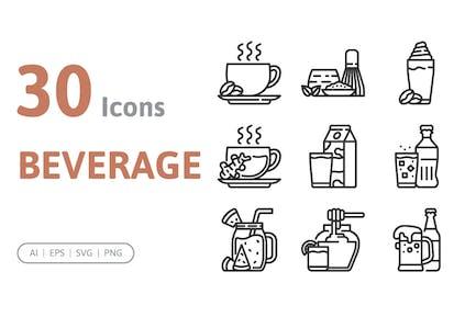 30 Beverage Icons