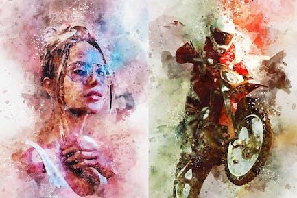 Watercolor Splash Art Photoshop Action