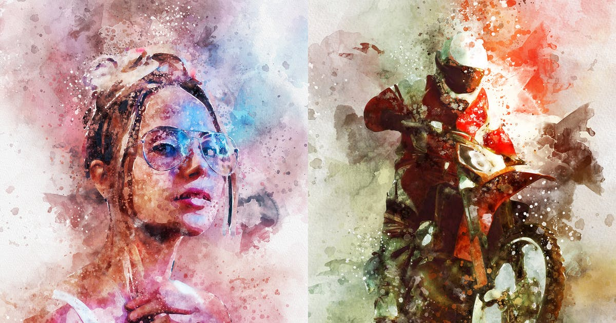 Download Watercolor Splash Art Photoshop Action by IndWorks