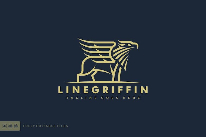 Thumbnail for Griffin Lineart Logo template