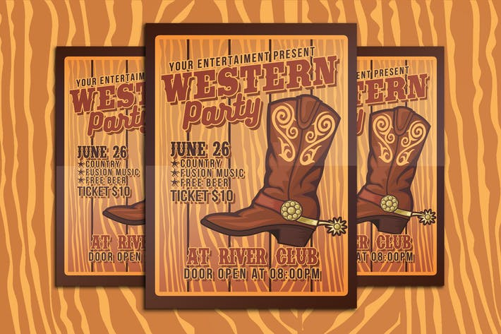 Thumbnail for Western Party Flyer