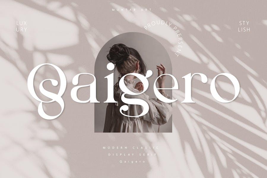 Qaigero | Modern Con serifa