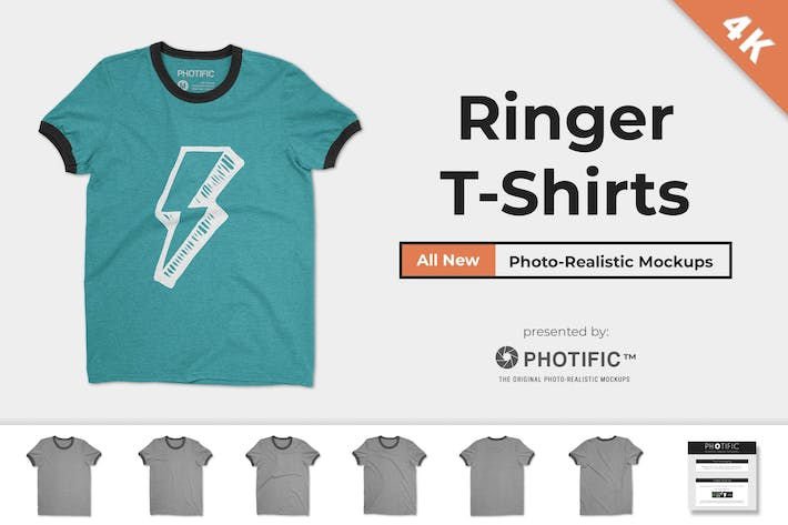 Thumbnail for Ringer T-Shirt-Mockups