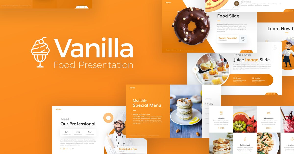 Download Vanilla Food and Culinary PowerPoint Template by Unknow