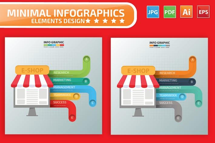 Thumbnail for E-Commerce Infographics Design