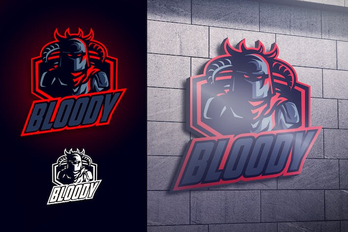 Thumbnail for Blood Knight Mascot Esports Logo