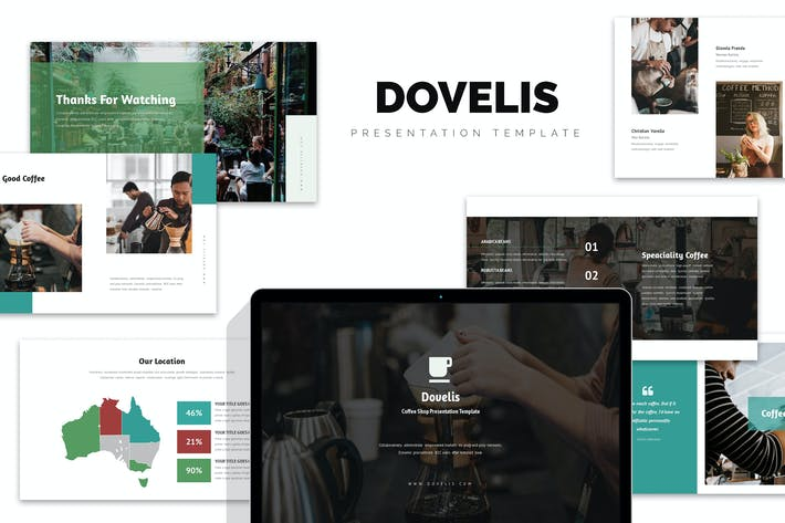 Thumbnail for Dovelis : Coffee Shop & Roastery Keynote