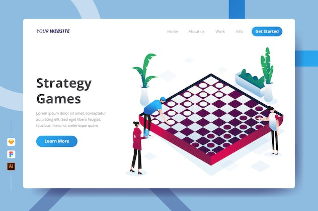 Strategy Games - Landing Page