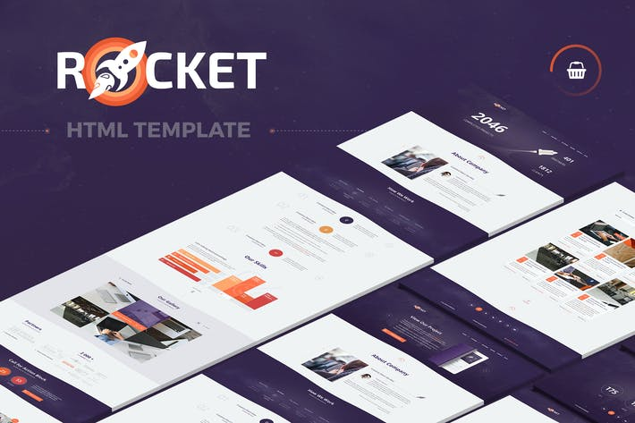 Thumbnail for Rocket - Creative Multipurpose HTML Template
