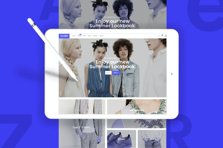 Cover Image For Zaser - A Multipurpose PSD Template